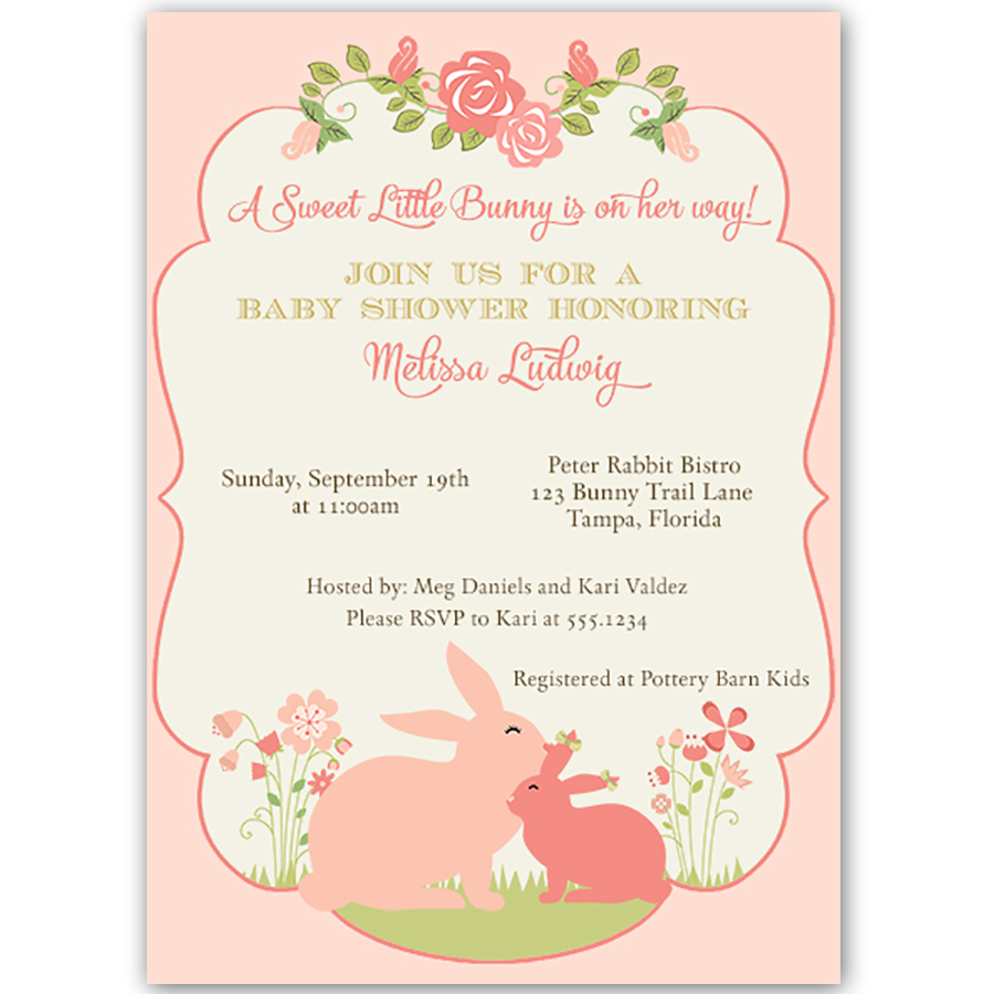 Some Bunny Baby Shower Invitation   Bunny, Babies and Babyshower