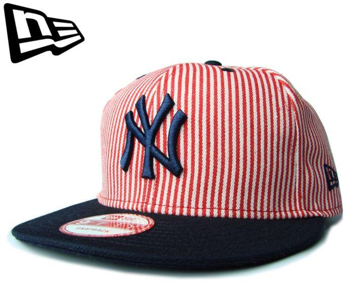 【ニューエラ】【NEW ERA】9FIFTY NEW YORK YANKEES ヒッコリーストライプ レッドXネイビー【CAP】【newera】【帽子】【ホワイト】【snapback】【STRIPE】【ニューヨーク・ヤンキース】【ピンストライプ】【黒】【NY】【フリーサイズ】【赤】【楽天市場】