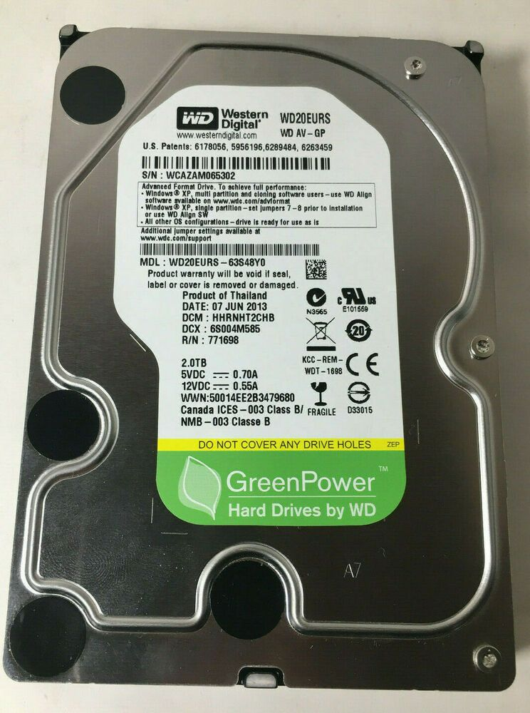 """Lot of 5 Western Digital Seagate HGST 250GB SATA 3.5/"""" HDD Internal Hard Drive"""
