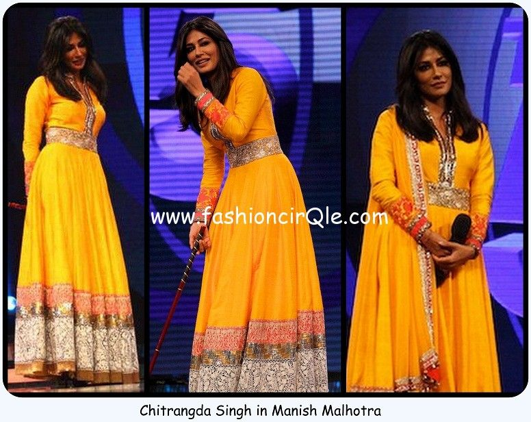 Chitrangda Singh in Manish Malhotra Sa Re Ga Ma Inkaar promotions