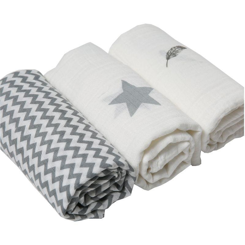 3pcs Set 120 120cm Muslin Cloth 100 Cotton Newborn Baby Swaddles Baby Blankets Multi Designs Functions B Baby Swaddle Blankets Muslin Baby Baby Muslin Swaddle