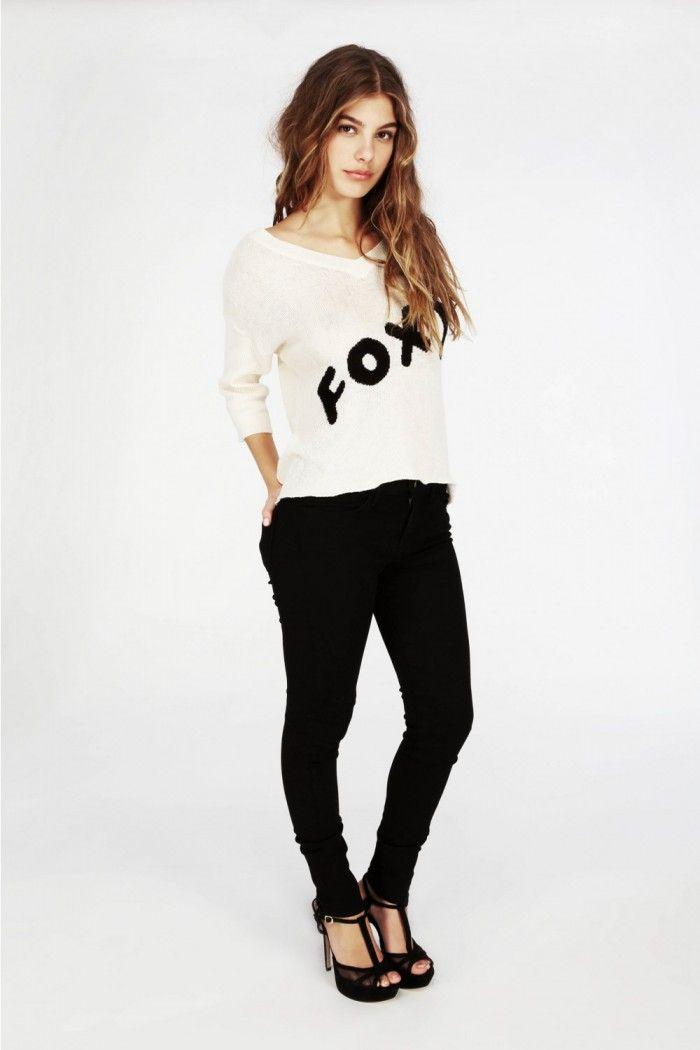 WILDFOX Foxy V Neck Sweater