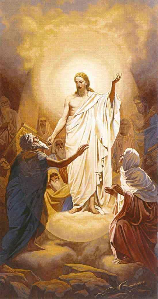 """A Alma de Cristo visita o Limbo (""""Mansão dos Mortos"""") e retira de lá as almas dos justos."""