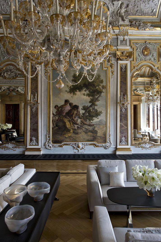 Exterior Exciting Hotel Interior Design Featuring Luxurious Simple Antique White Dining Room Exterior