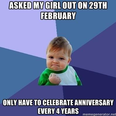 Leap Year Win Funny Church Memes Success Kid Teacher Memes