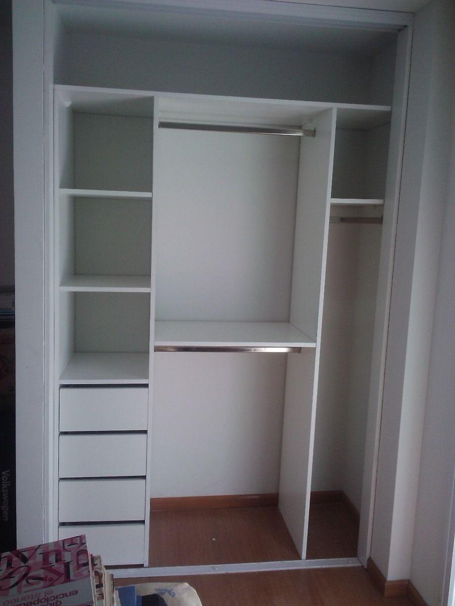 Interior de placard color blanco 180 cm en for Ideas interior armario