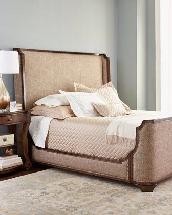 edward upholstered bed | horchow | now furnish it | pinterest