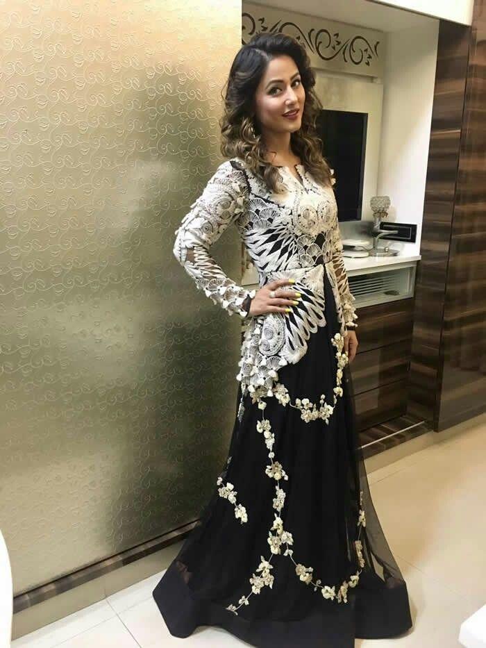 Beautiful And So Cute Hina Khan Hina Khan Heena Khan Dresses