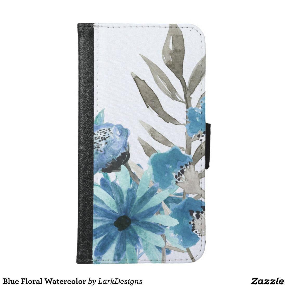 Blue Floral Watercolor
