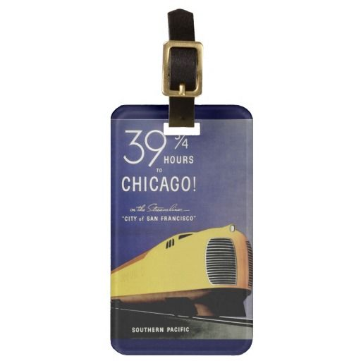 Streamlined Train City Of San Francisco Tags For Bags