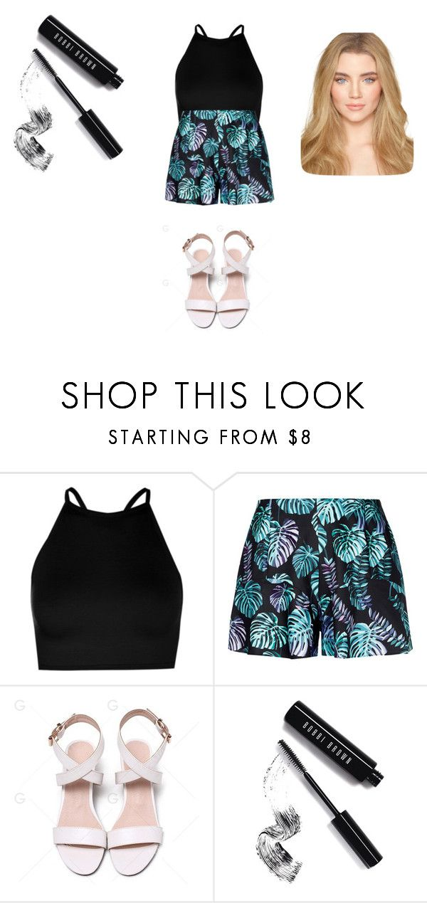 """""""Sans titre #10069"""" by ghilini-l-roquecoquille ❤ liked on Polyvore featuring Boohoo and Bobbi Brown Cosmetics"""