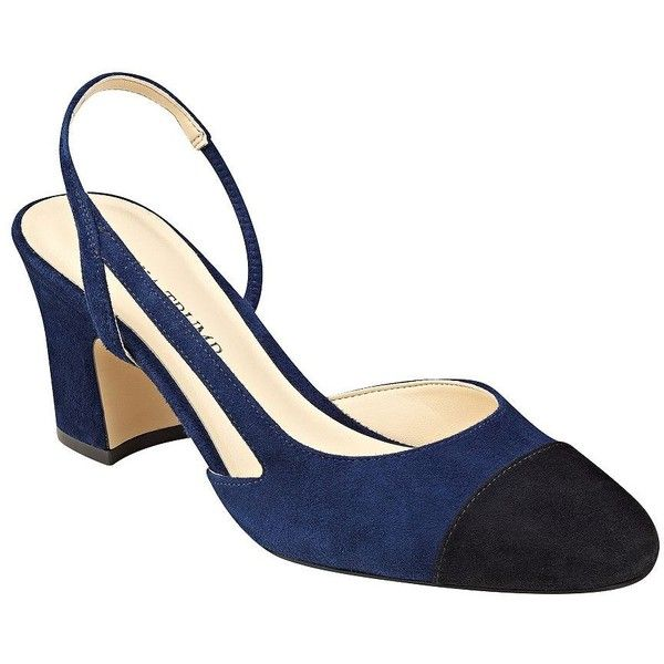 Ivanka Trump Liah Suede Slingback Pumps (165 AUD) ❤ liked on Polyvore  featuring shoes