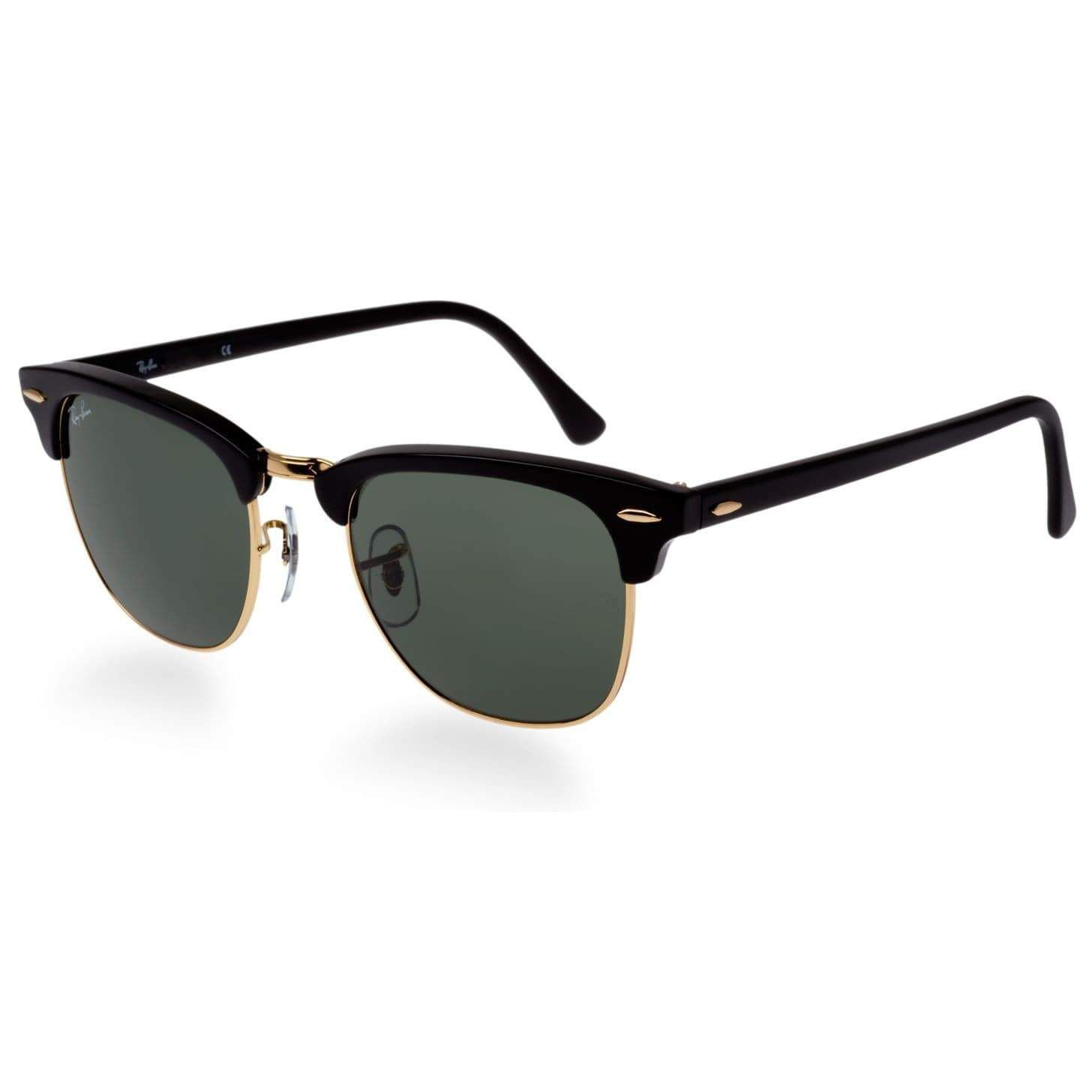 34f94c2b1d7 ... real ray ban clubmaster rb3016 unisex black frame green classic  sunglasses ce381 fb909