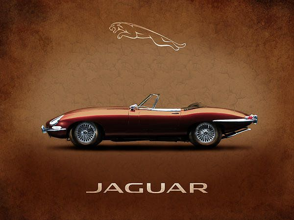 Jaguar E-type Series 1 Print By Mark Rogan