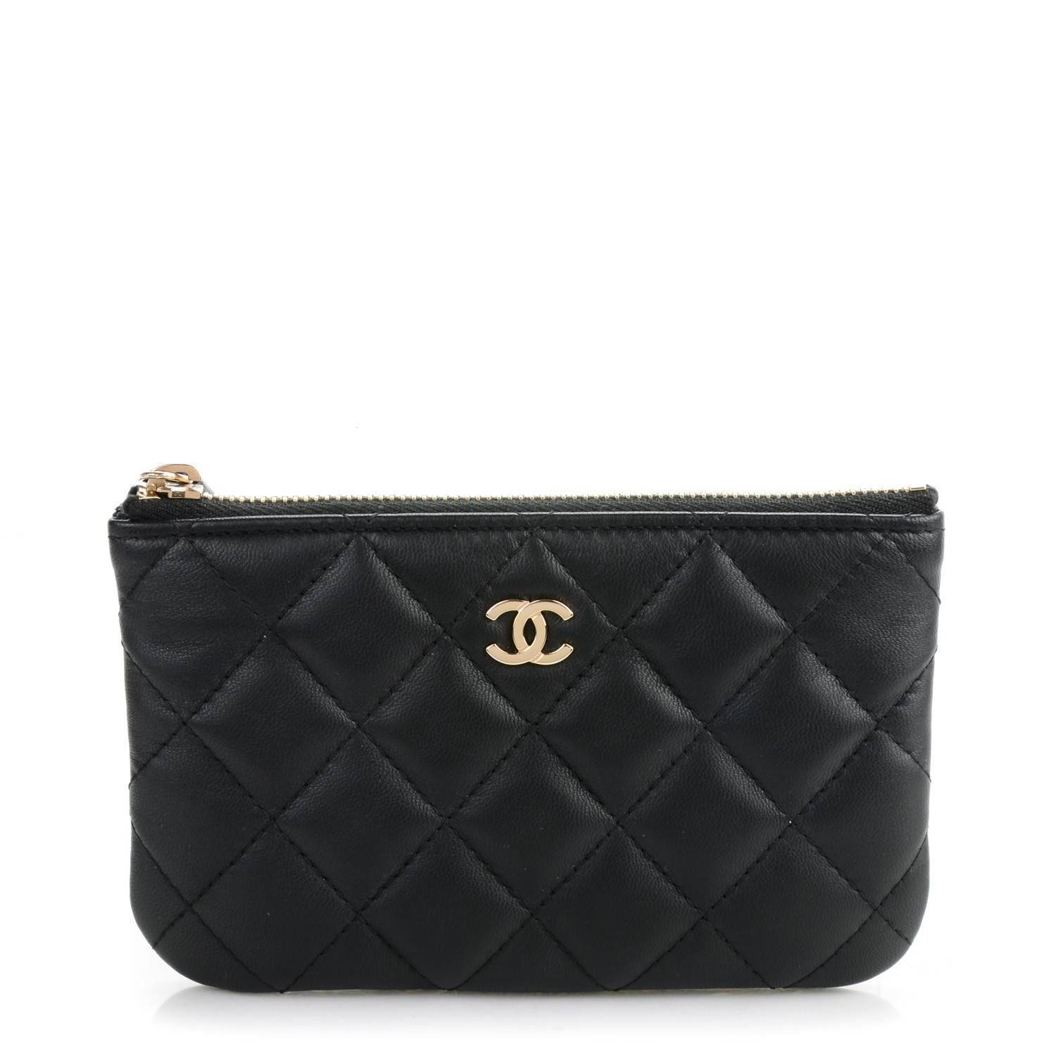 26f18ed40c4054 This is an authentic CHANEL Lambskin Quilted Coin Purse in Black. This  ultra-stylish