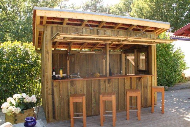 terrasse bois bar exterieur bar piscine