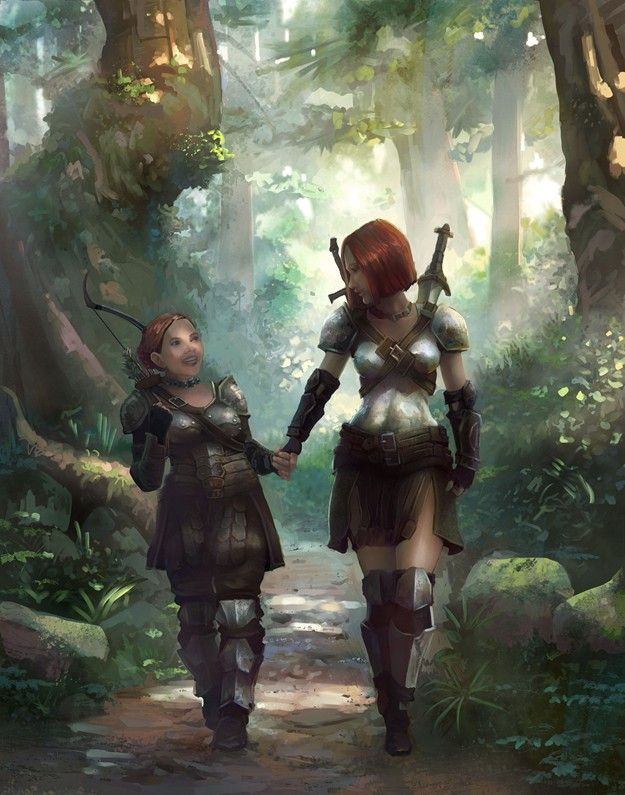 A Forest Stroll by gamefan84 by ~godengine666 on deviantART this is the cutest thing i have ever seen!