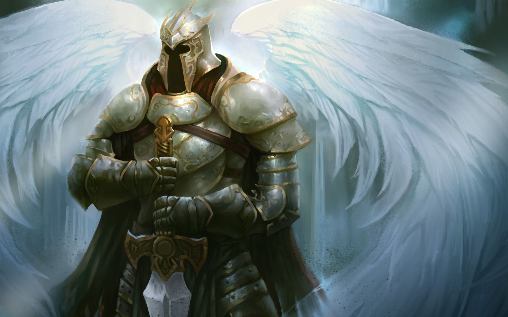 angel warrior fantasy hd wallpaper baby girl guardian