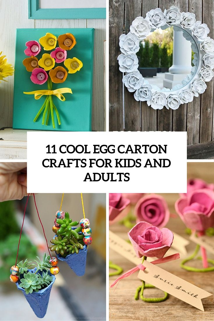 Cool Egg Carton Crafts For Kids And Adults Diyz Pinterest Egg