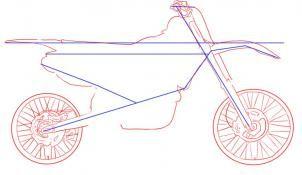how to draw a bmx bike step by step easy