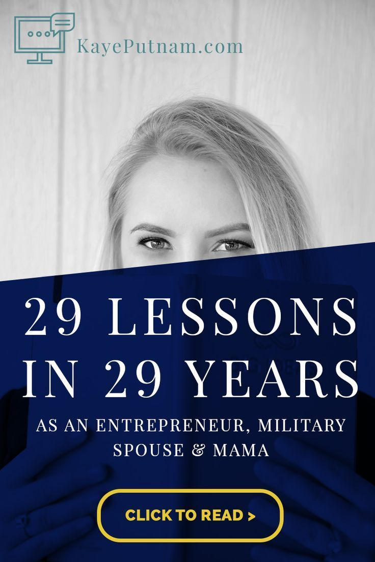 29 lessons in 29 years kaye putnam psychology driven