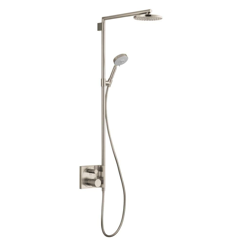 Luxury Brushed Nickel Shower Bar