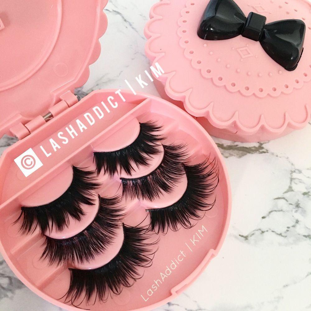 4c00edee627 3 MINK Lashes Fur Siberian + Silk Eyelashes 3 Pair 💕 Makeup Case US SELLER  | eBay