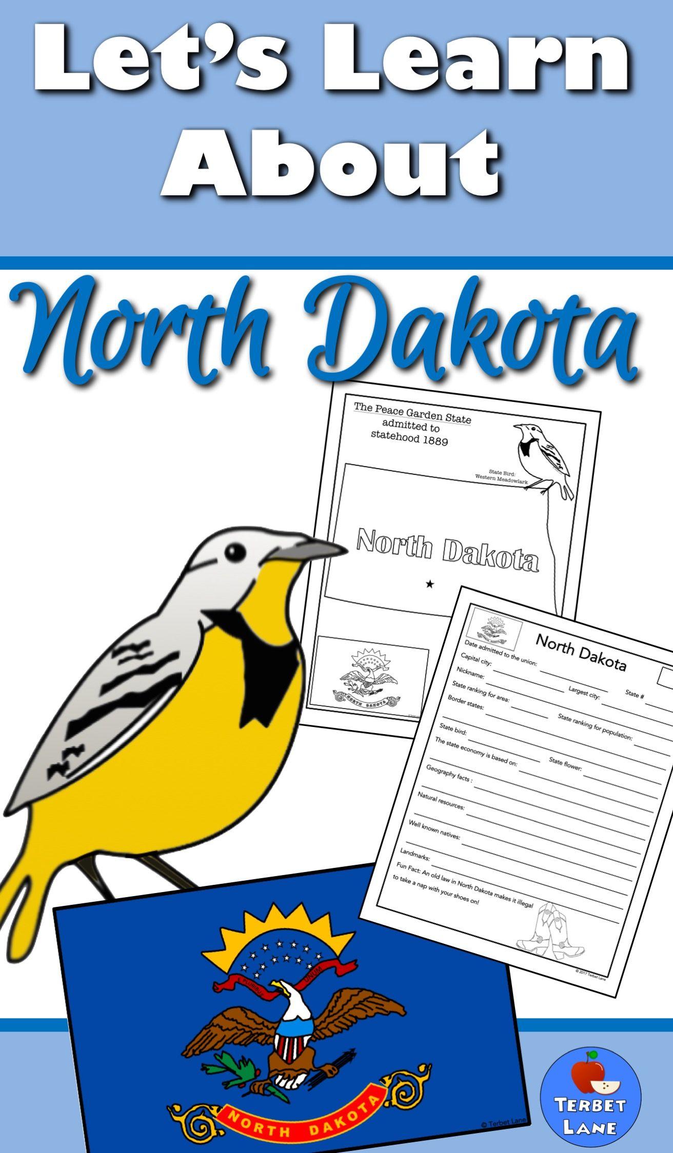 North Dakota History And Symbols Unit Study North Dakota