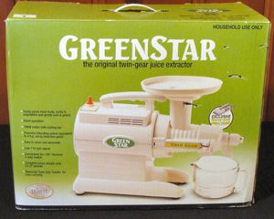 I bought a GreenStar GS 3000 juice extractor. Really good