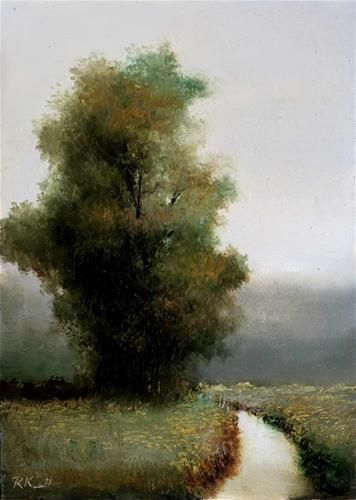 DPW Fine Art Friendly Auctions - A Tree by the Lazy Stream by Bob Kimball