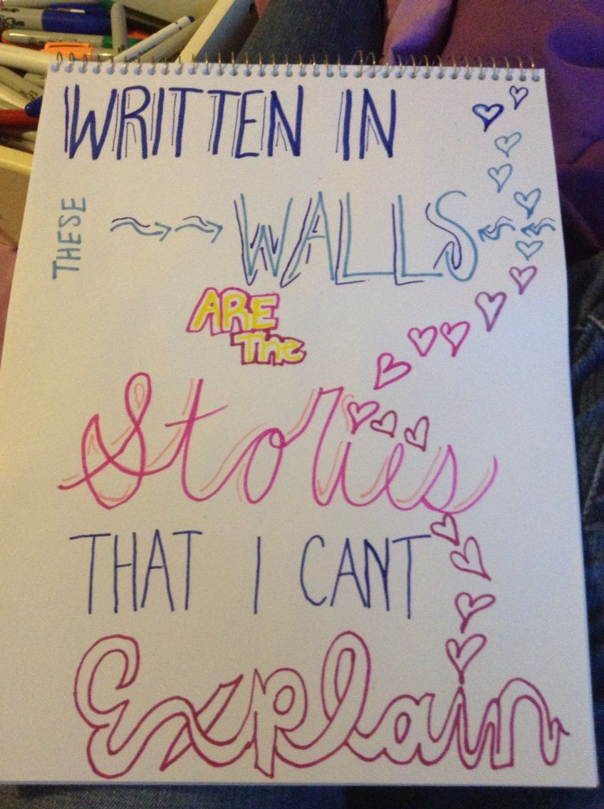 Lyrics art-- Story of My Life, One Direction