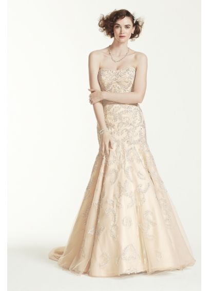 Strapless Trumpet All Over Lace and Beaded Gown CMB619 http://www ...