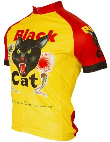 Black Cat Fireworks Cycling Jersey by Retro Ship Free to the United States.  We offer reduced rate shipping to the rest of the world 8288ef3a3