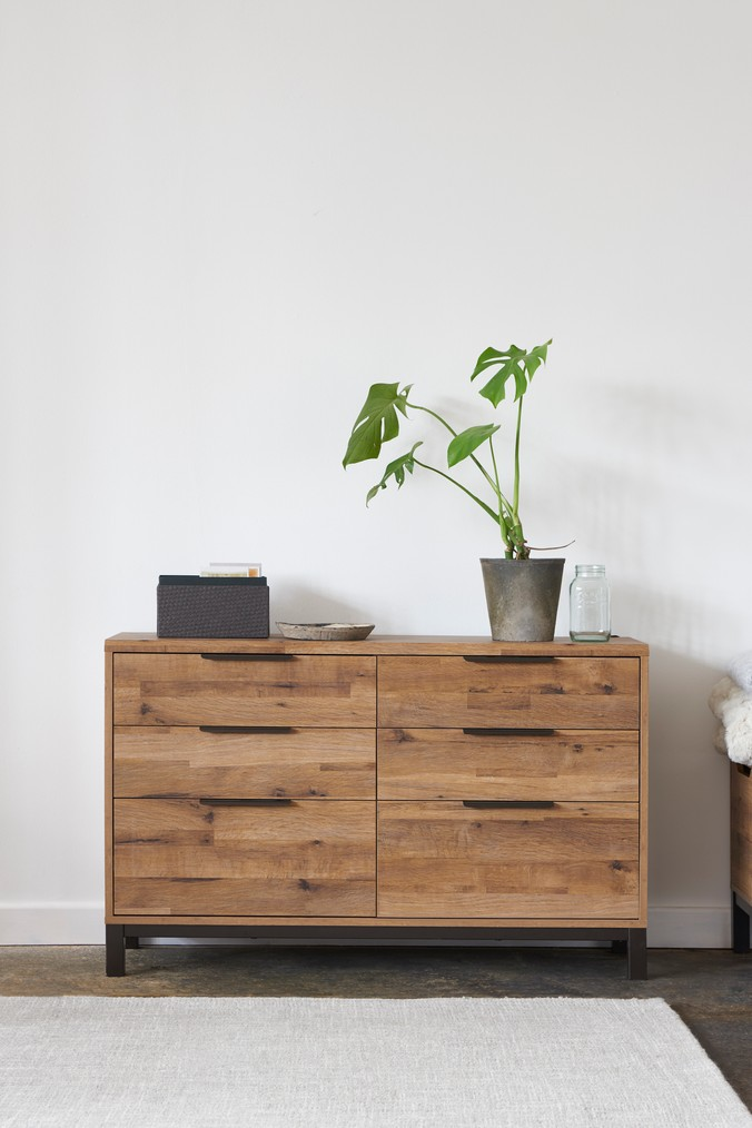 Next Bronx Metal 6 Drawer Wide Chest Brown Brown Chest Of Drawers Bedroom Chest Of Drawers Wide Chest Of Drawers
