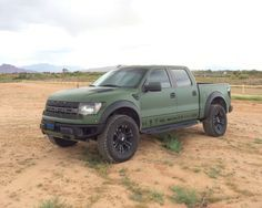 Military Matte Green Wrap Ford Raptor Ford Trucks F150 Ford