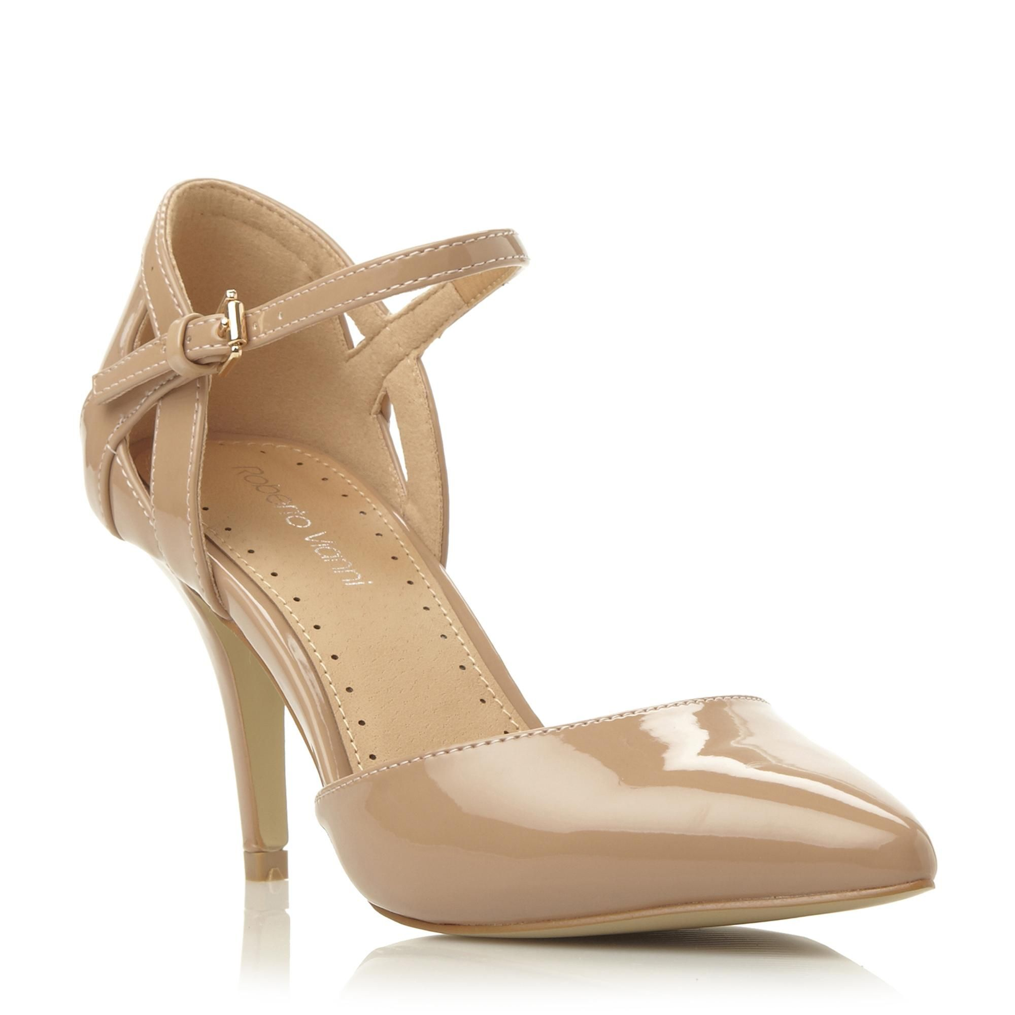 Roberto Vianni Ladies CHAUBELLA - Two Part Pointed Toe Court Shoe - nude | Dune Shoes Online