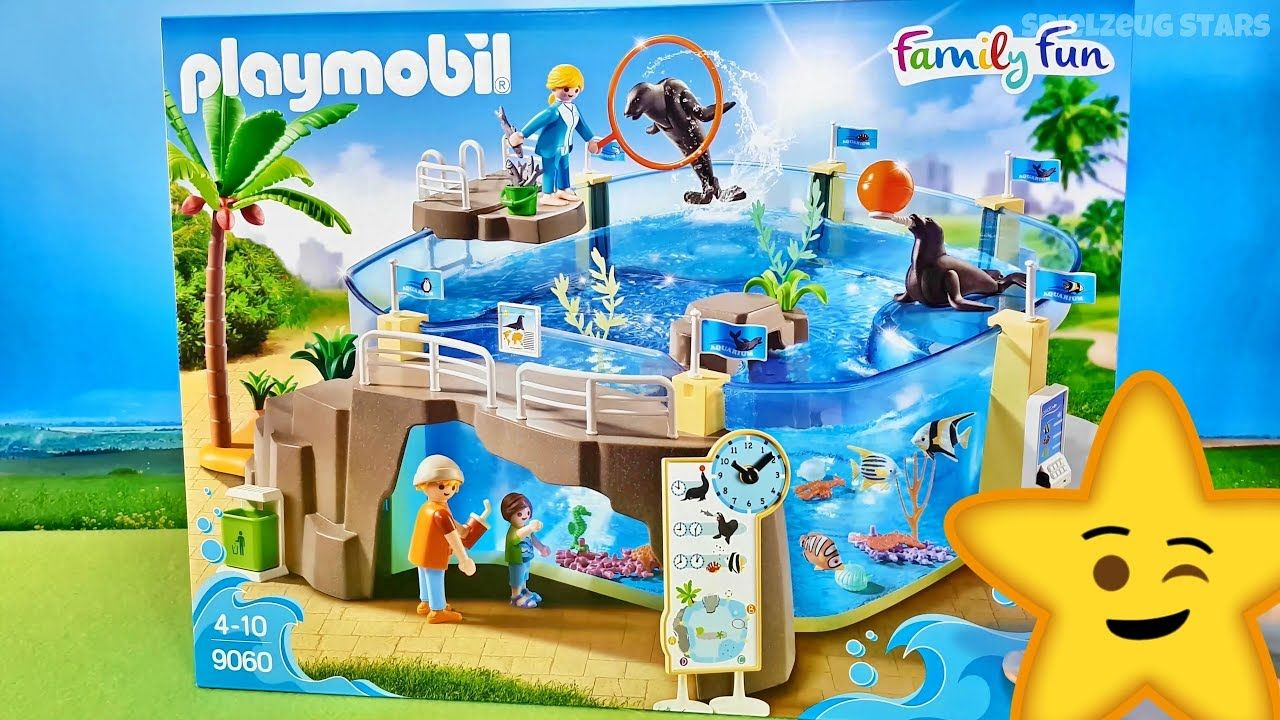 Familie Vogel Playmobil Ausmalbilder : Playmobil Meerestier Aquarium 9060 Spielzeug Test Wir Packen Das