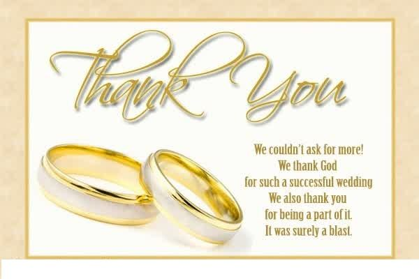 Wedding Thank You Card Examples Free  Card