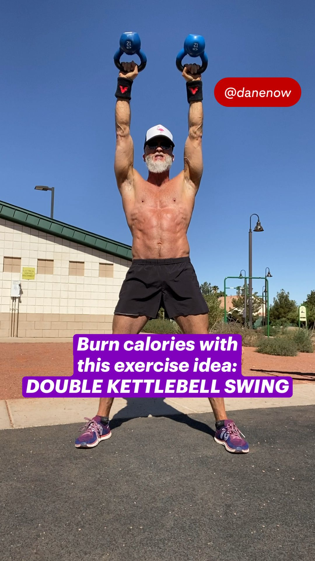 Burn calories with this exercise idea: DOUBLE KETTLEBELL SWING