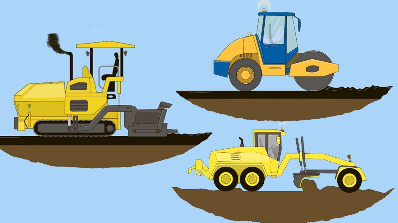 Scopriamo I Mezzi Ed I Camion Che Servono Per Costruire Una Strada Nel 2020 Bambini Colori Camion