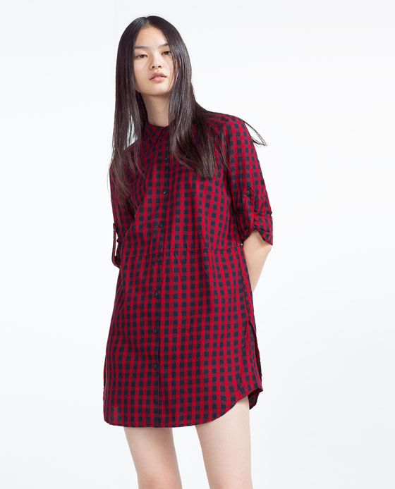 3a870e97cee5 Image 3 of CHECKED ORGANIC COTTON SHIRT DRESS from Zara | Clothes ...