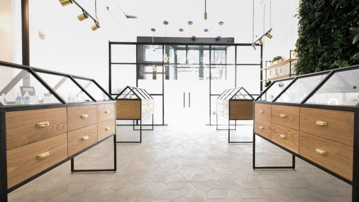 portland studios omfgco and jhl design have designed a minimal interior for this store that sells recreational marijuana - Commercial Interior Design Blog