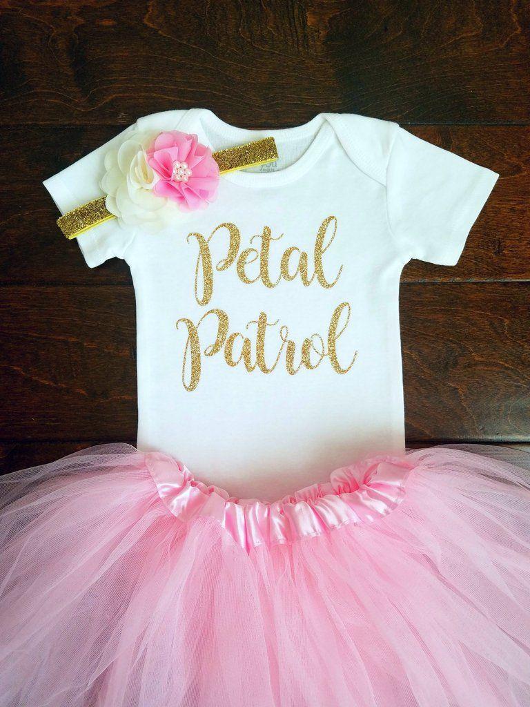 dfd8570706d Ava Petal Patrol Shirt Flower Girl Shirt Flower Girl Rehearsal Outfit