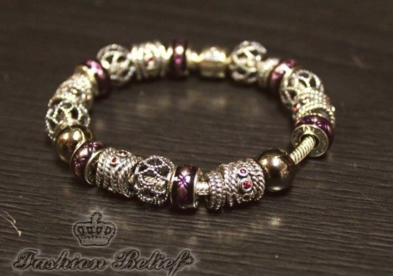 PANDORA Bracelet with Nice Edgy Charms. | Pandora bracelet idea ...