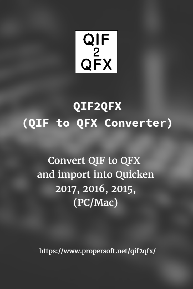 Qif2qfx | ProperSoft Inc  | Web connect, Sage one