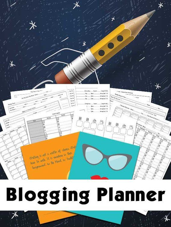 Blog Planner Blogging Planner Includes Editorial Calendar