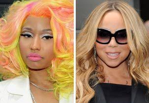 Image: (From left) Nicki Minaj & Mariah Carey (© Evan Agostini/Invision; S. Savenok/Getty Images)