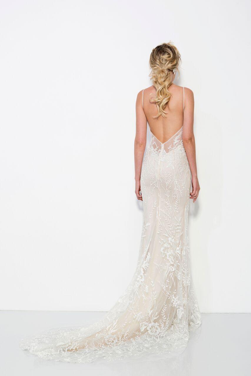 Georges hobeika boho backless wedding dress lace wedding dresses