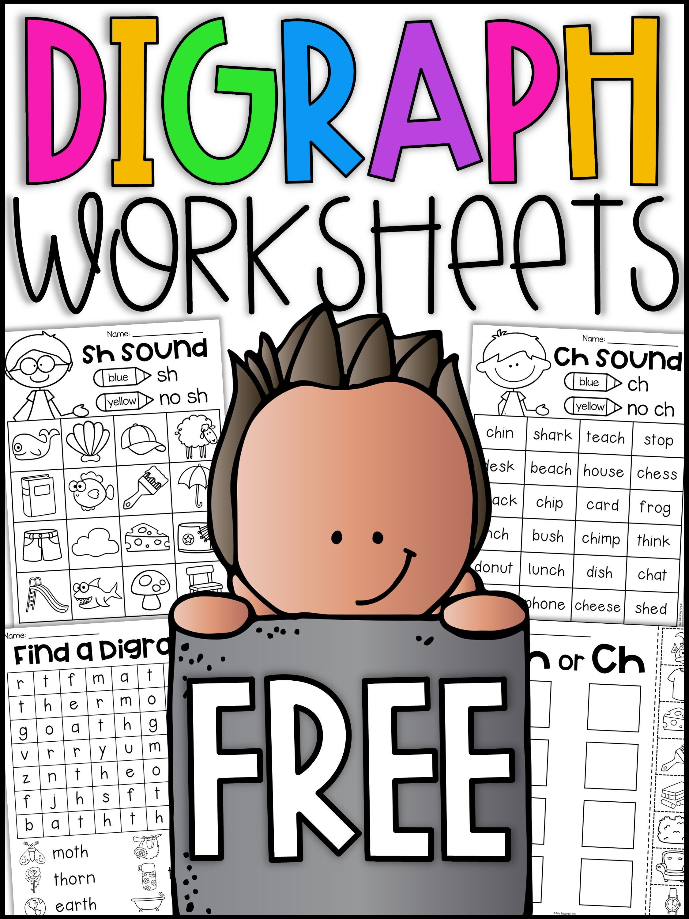 Digraph Worksheet Packet Ch Sh Th Wh Ph Awesome K5