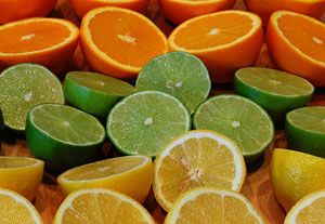 The Green Yellow And Orange Analogous Color Scheme Of Limes Is